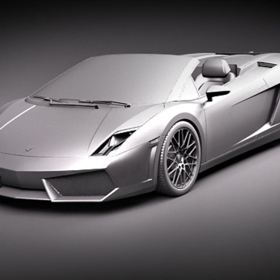 Lamborghini Gallardo LP560-4 Spyder royalty-free 3d model - Preview no. 9