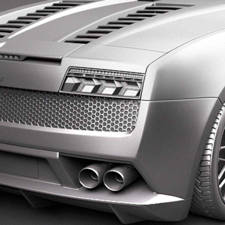 Lamborghini Gallardo LP560-4 Spyder royalty-free 3d model - Preview no. 11
