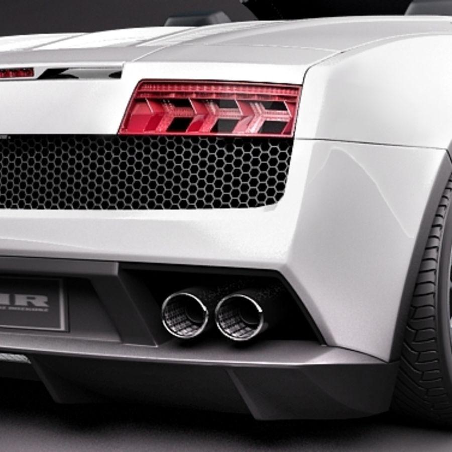 Lamborghini Gallardo LP560-4 Spyder royalty-free 3d model - Preview no. 4