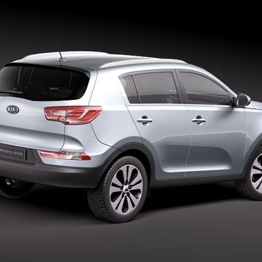 Kia Sportage 2011 royalty-free 3d model - Preview no. 6