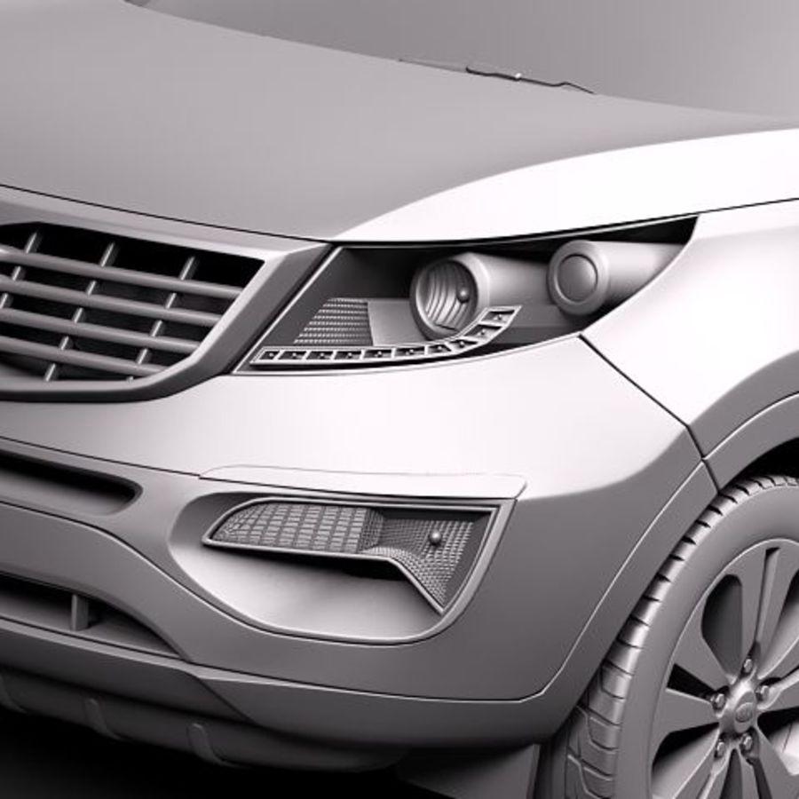 Kia Sportage 2011 royalty-free 3d model - Preview no. 11