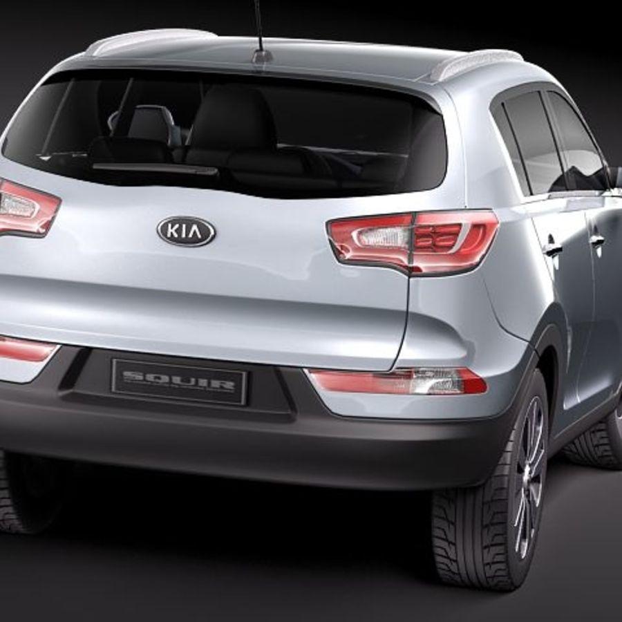 Kia Sportage 2011 royalty-free 3d model - Preview no. 5