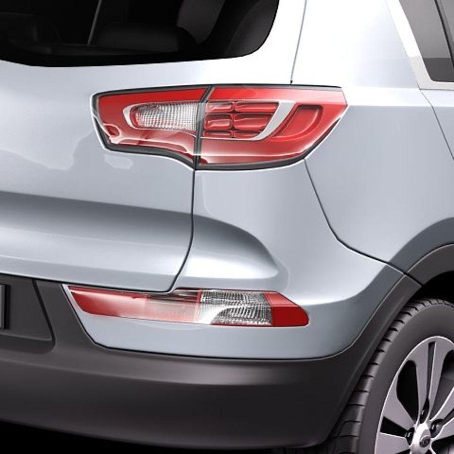 Kia Sportage 2011 royalty-free 3d model - Preview no. 4