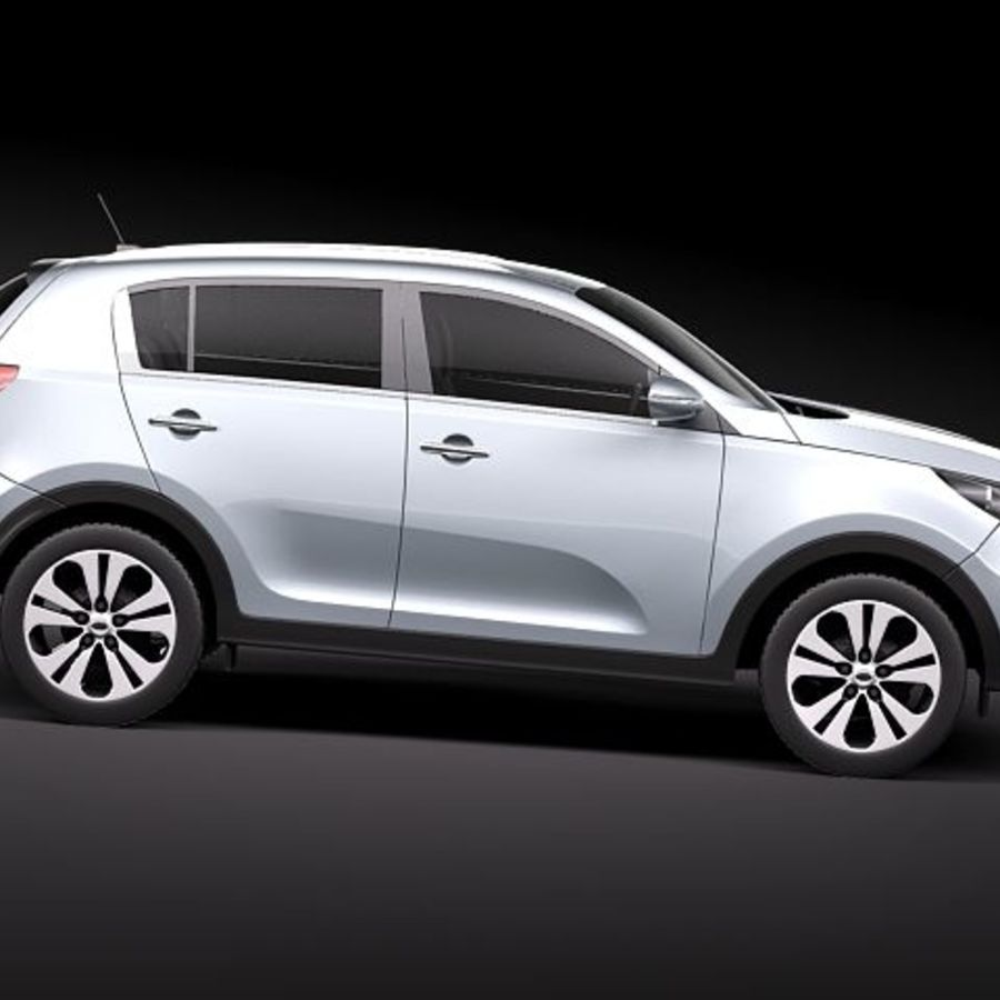 Kia Sportage 2011 royalty-free 3d model - Preview no. 7