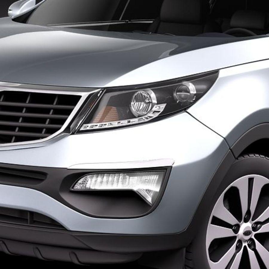 Kia Sportage 2011 royalty-free 3d model - Preview no. 3
