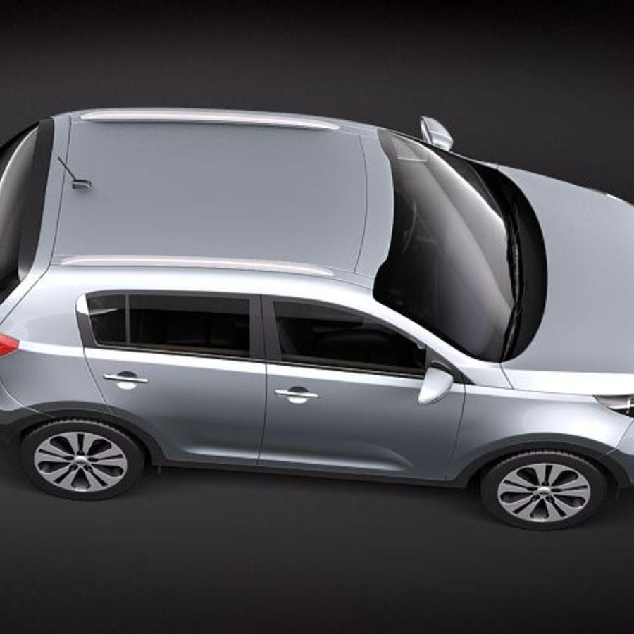 Kia Sportage 2011 royalty-free 3d model - Preview no. 8