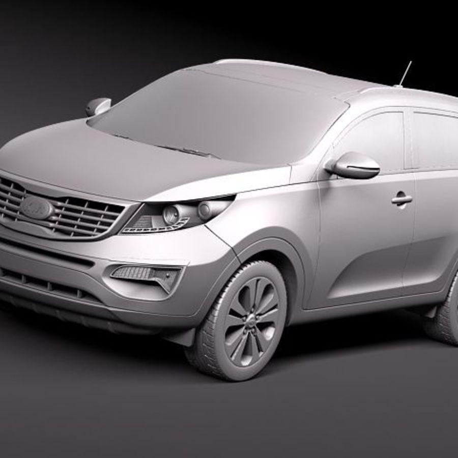 Kia Sportage 2011 royalty-free 3d model - Preview no. 12