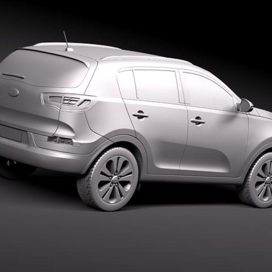 Kia Sportage 2011 royalty-free 3d model - Preview no. 9