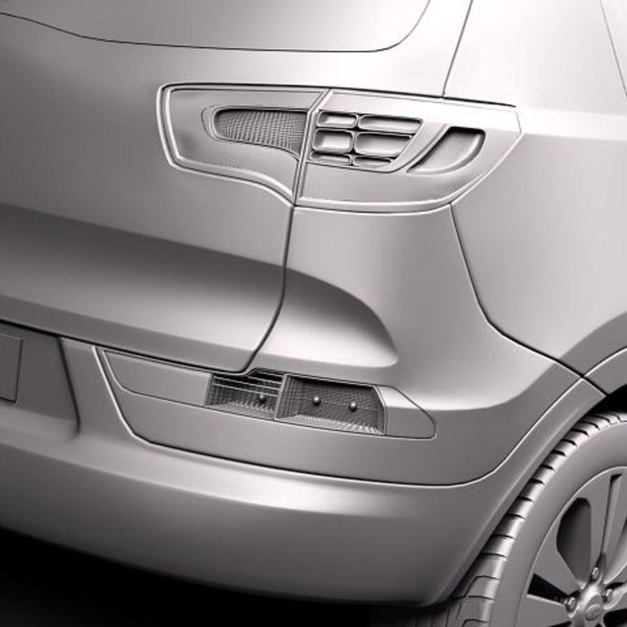 Kia Sportage 2011 royalty-free 3d model - Preview no. 10