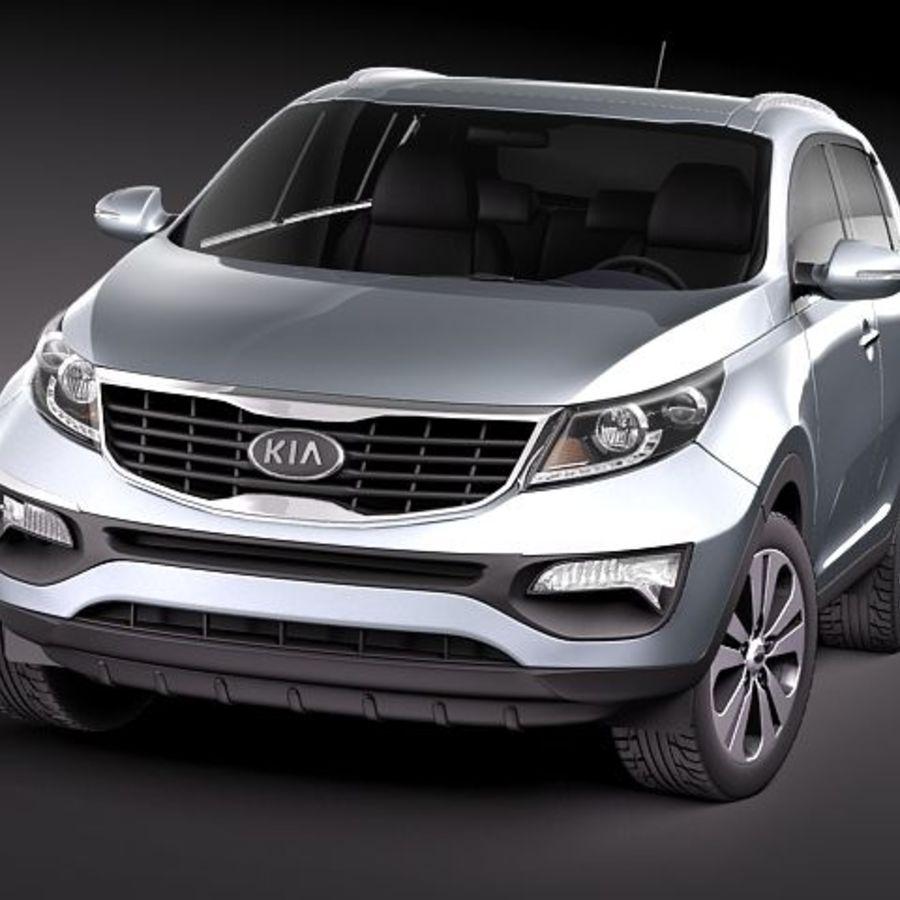 Kia Sportage 2011 royalty-free 3d model - Preview no. 2
