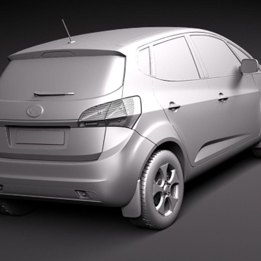 Kia Venga 2010 royalty-free 3d model - Preview no. 12