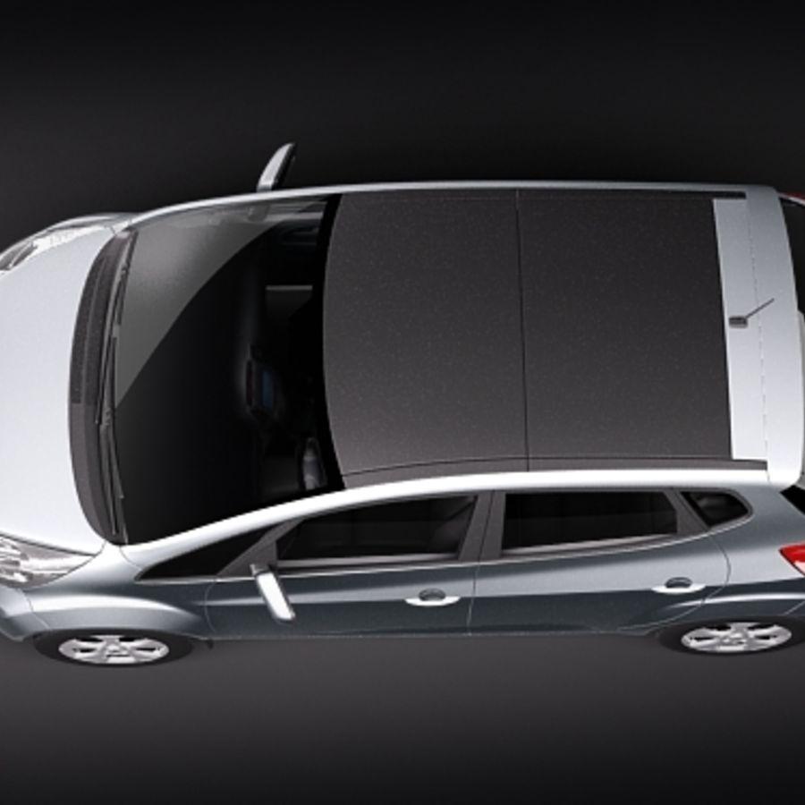 Kia Venga 2010 royalty-free 3d model - Preview no. 8