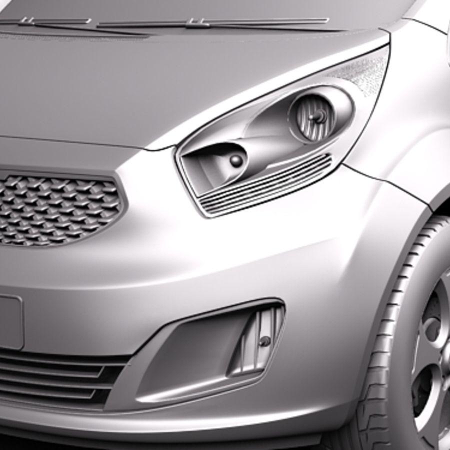 Kia Venga 2010 royalty-free 3d model - Preview no. 10