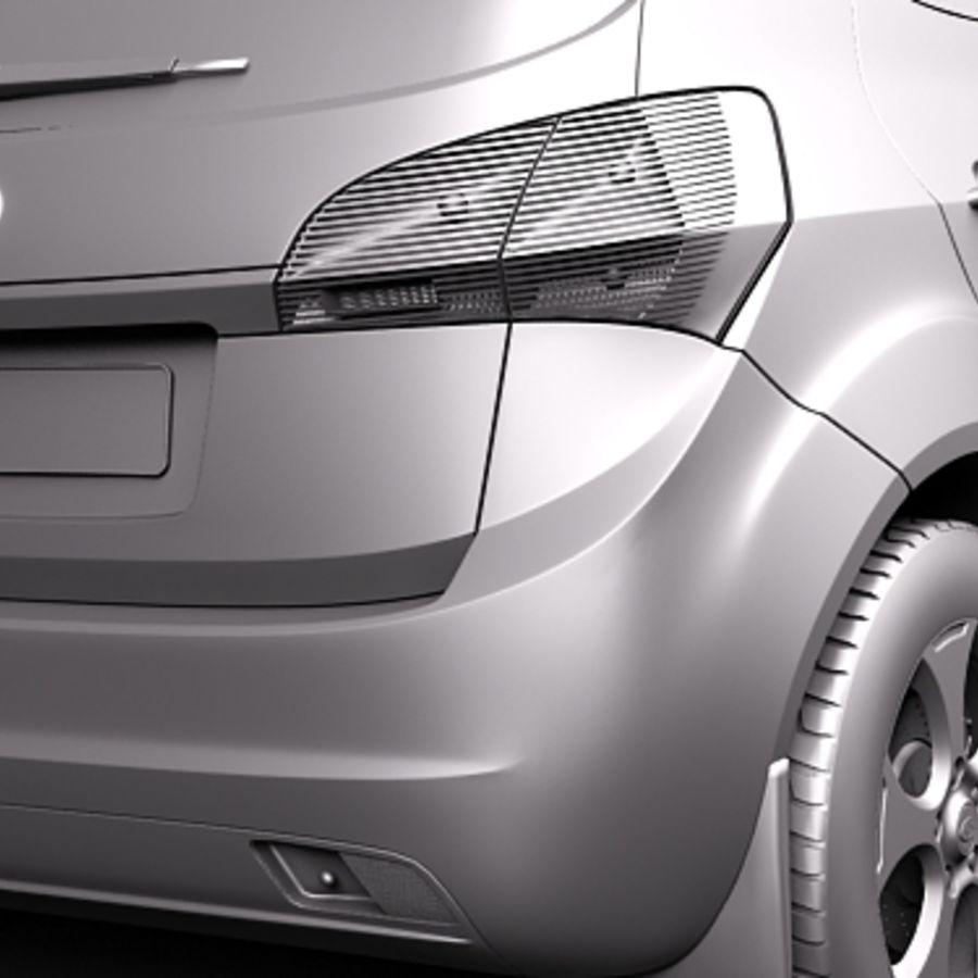 Kia Venga 2010 royalty-free 3d model - Preview no. 11