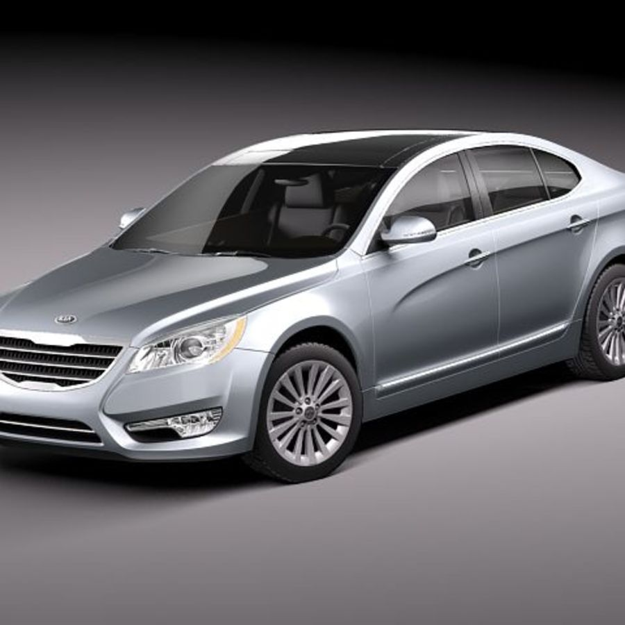 Kia Cadenza royalty-free 3d model - Preview no. 1
