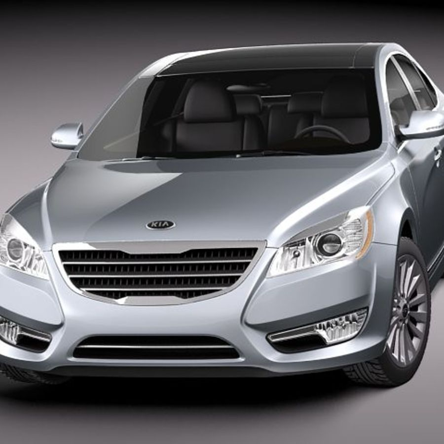 Kia Cadenza royalty-free 3d model - Preview no. 2