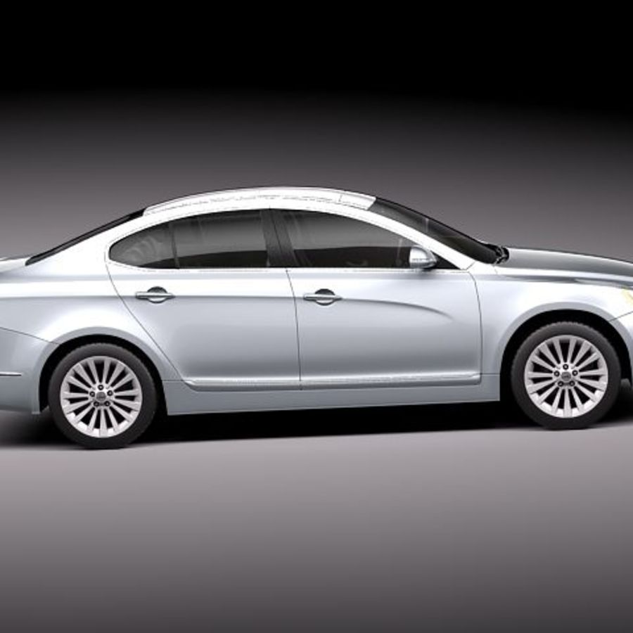 Kia Cadenza royalty-free 3d model - Preview no. 7
