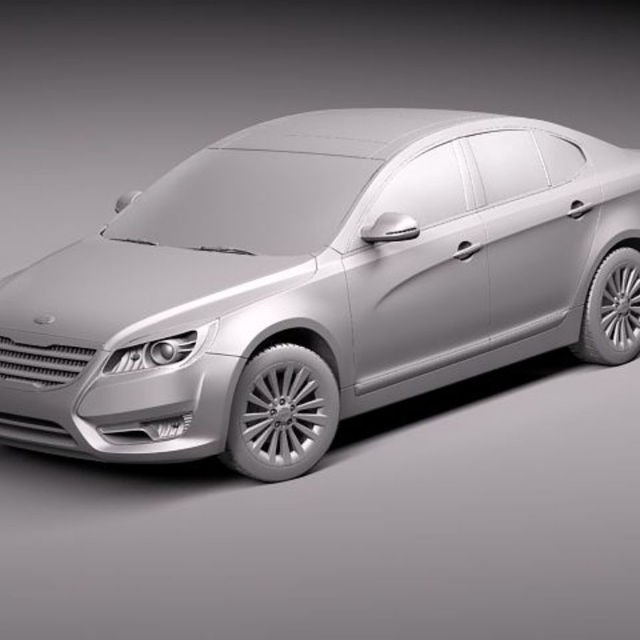 Kia Cadenza royalty-free 3d model - Preview no. 10