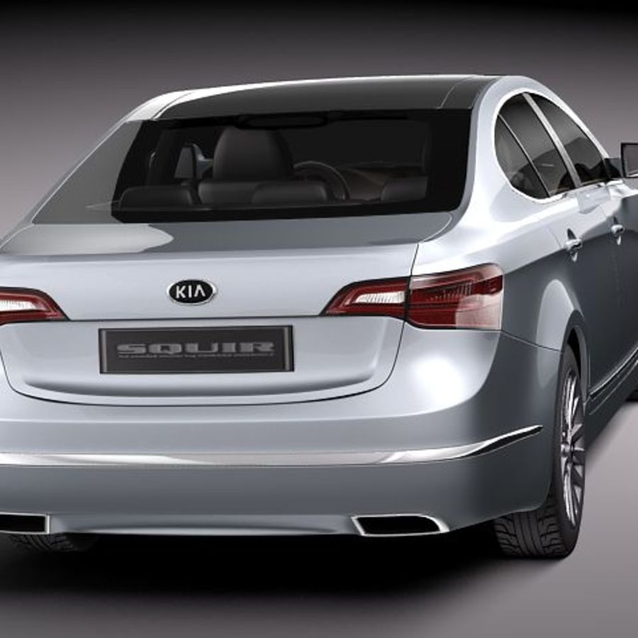 Kia Cadenza royalty-free 3d model - Preview no. 5