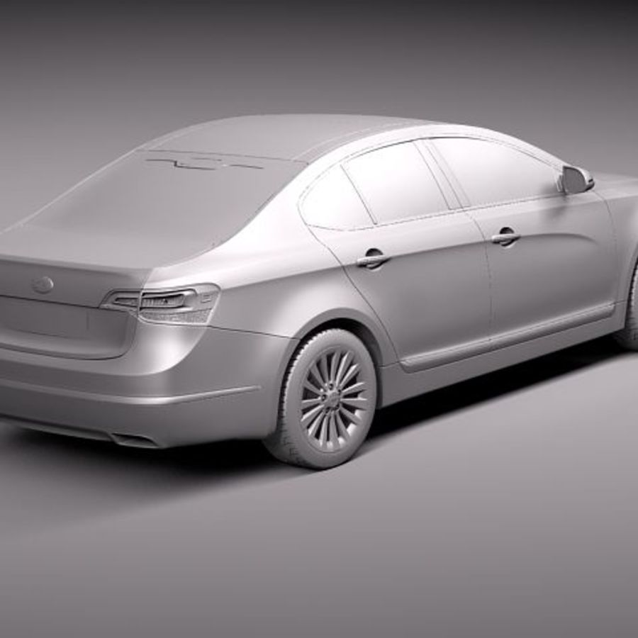 Kia Cadenza royalty-free 3d model - Preview no. 9