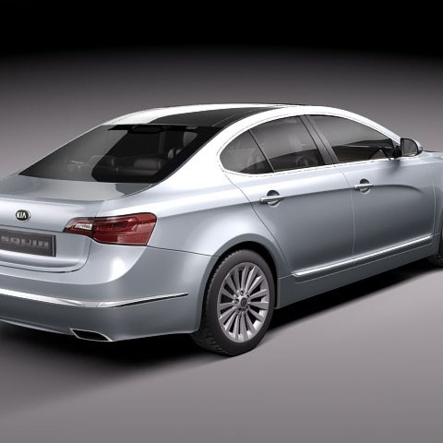 Kia Cadenza royalty-free 3d model - Preview no. 6