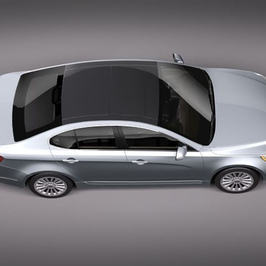 Kia Cadenza royalty-free 3d model - Preview no. 8