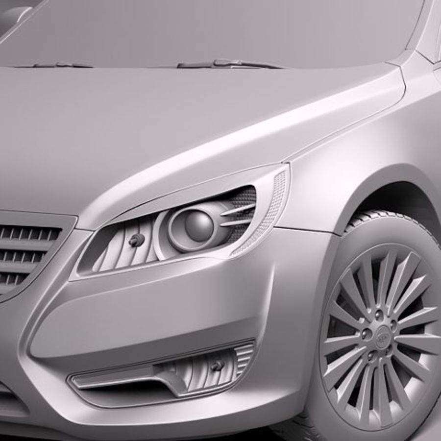 Kia Cadenza royalty-free 3d model - Preview no. 11