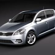 Kia Ceed 2010 3d model