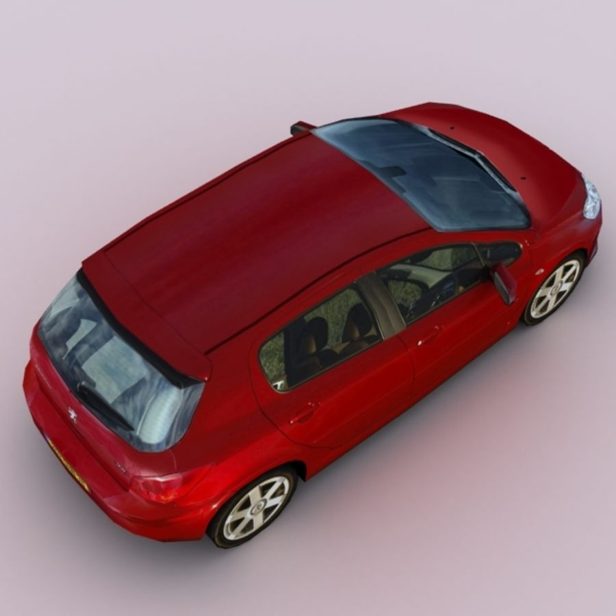 2005 Peugeot 307 royalty-free 3d model - Preview no. 3