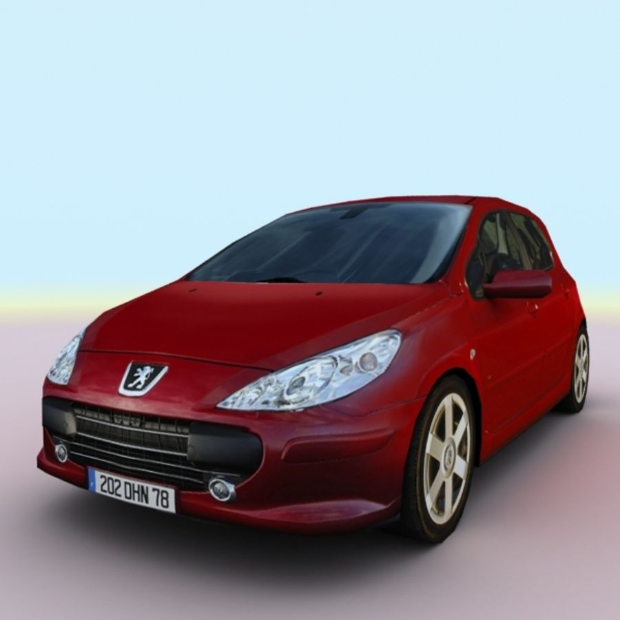 2005 Peugeot 307 royalty-free 3d model - Preview no. 1