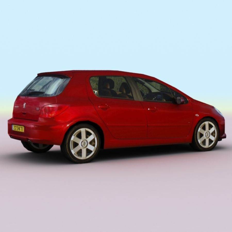 2005 Peugeot 307 royalty-free 3d model - Preview no. 2