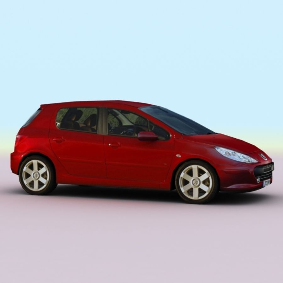 2005 Peugeot 307 royalty-free 3d model - Preview no. 5