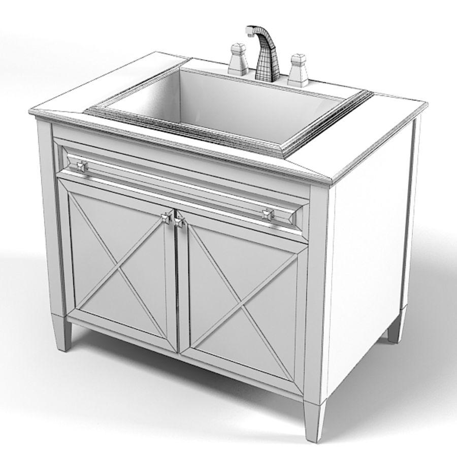 villeroy bosh land fåfänga sjunka badrumsmöbler klassisk royalty-free 3d model - Preview no. 2