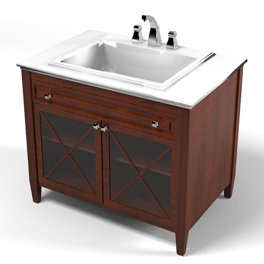 villeroy bosh land fåfänga sjunka badrumsmöbler klassisk royalty-free 3d model - Preview no. 1