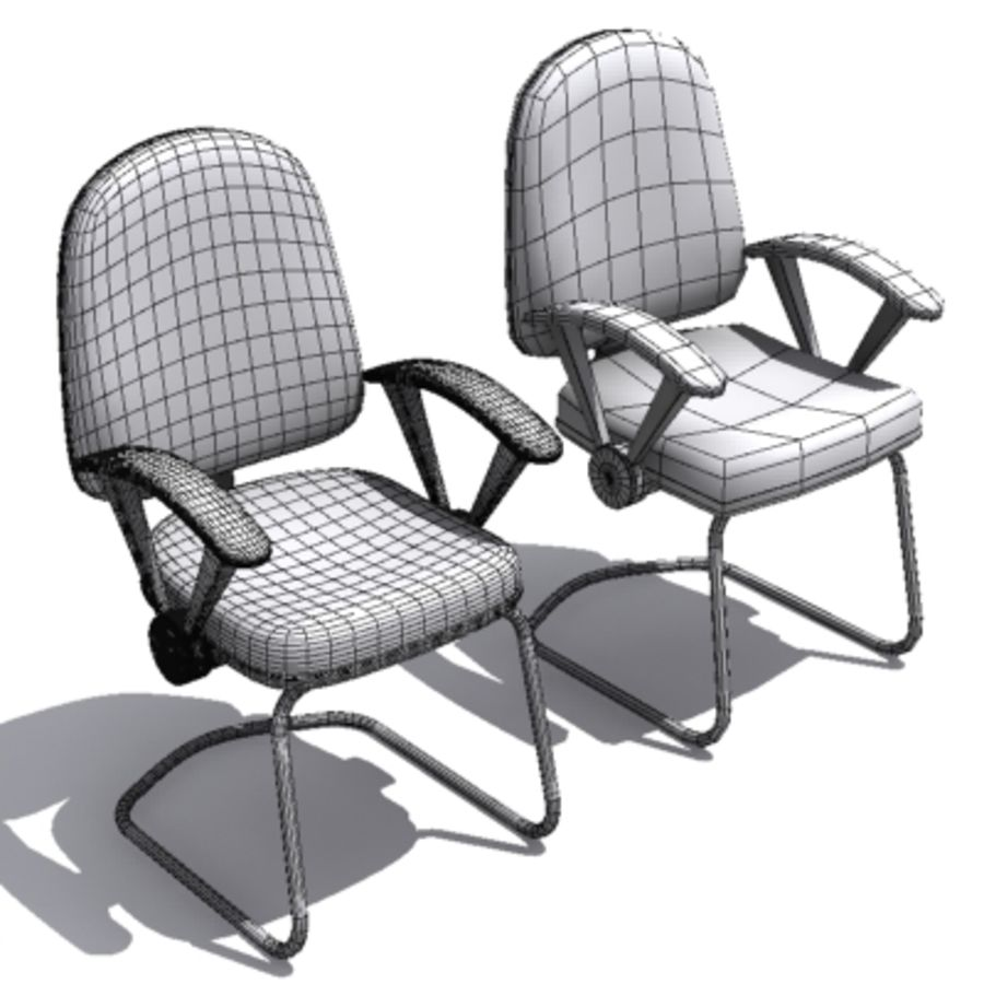 3D Chair 001 royalty-free 3d model - Preview no. 6