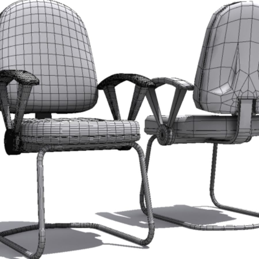 3D Chair 001 royalty-free 3d model - Preview no. 5