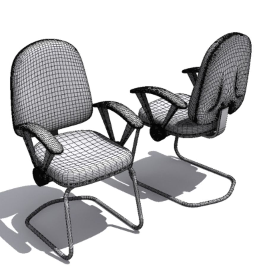 3D Chair 001 royalty-free 3d model - Preview no. 4