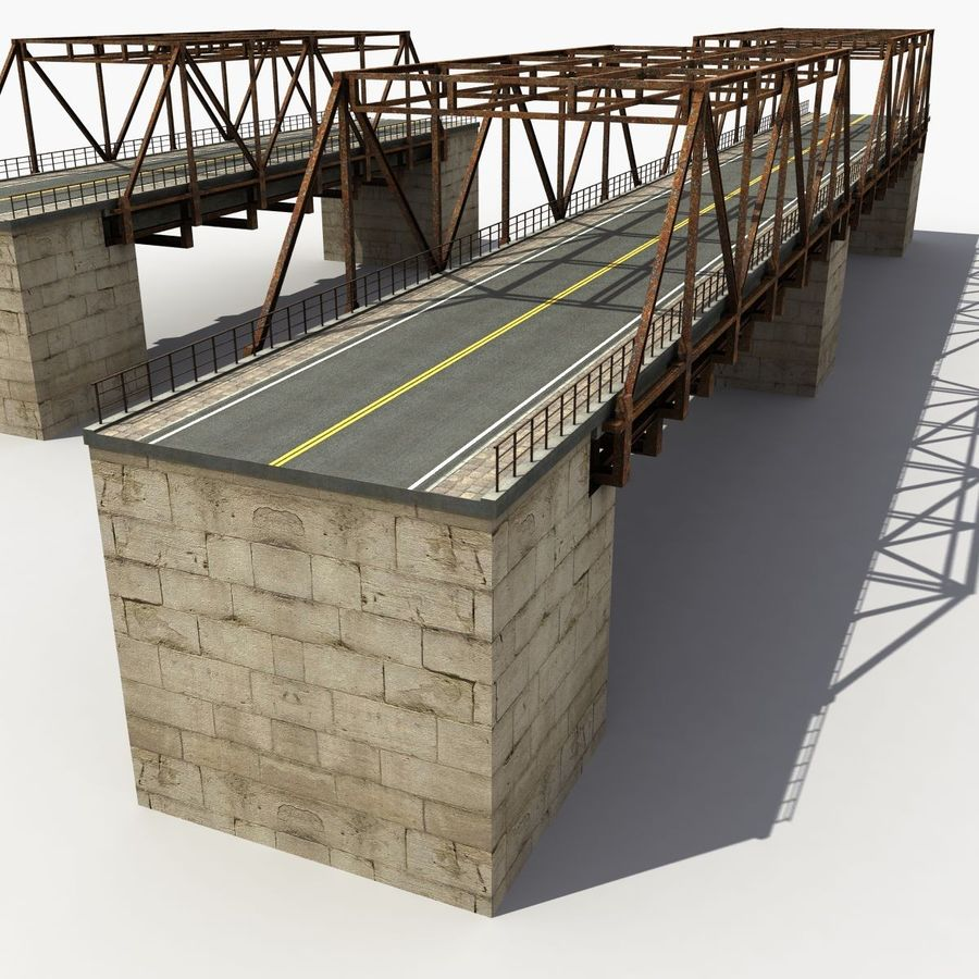 Bridge with metal royalty-free 3d model - Preview no. 6