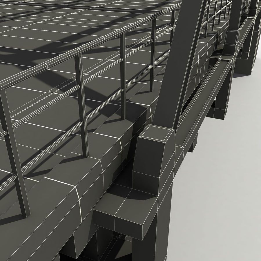 Bridge with metal royalty-free 3d model - Preview no. 16