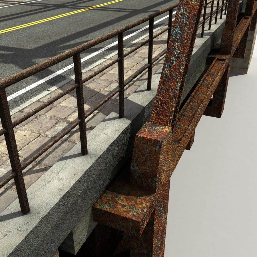 Bridge with metal royalty-free 3d model - Preview no. 9