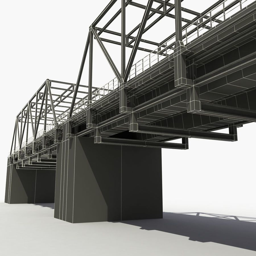 Bridge with metal royalty-free 3d model - Preview no. 15