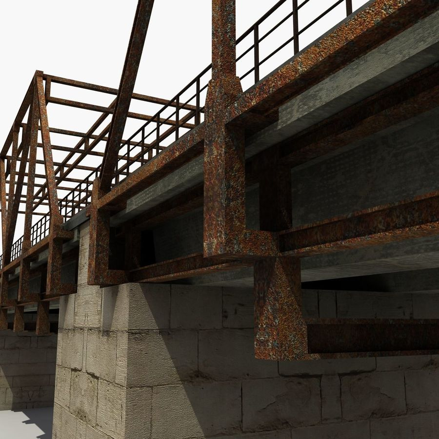 Bridge with metal royalty-free 3d model - Preview no. 8