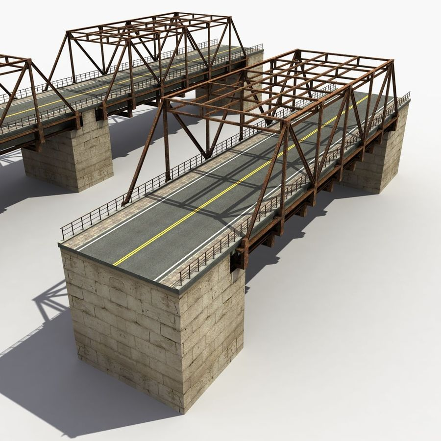 Bridge with metal royalty-free 3d model - Preview no. 4