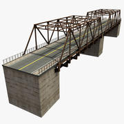 Bridge with metal 3d model