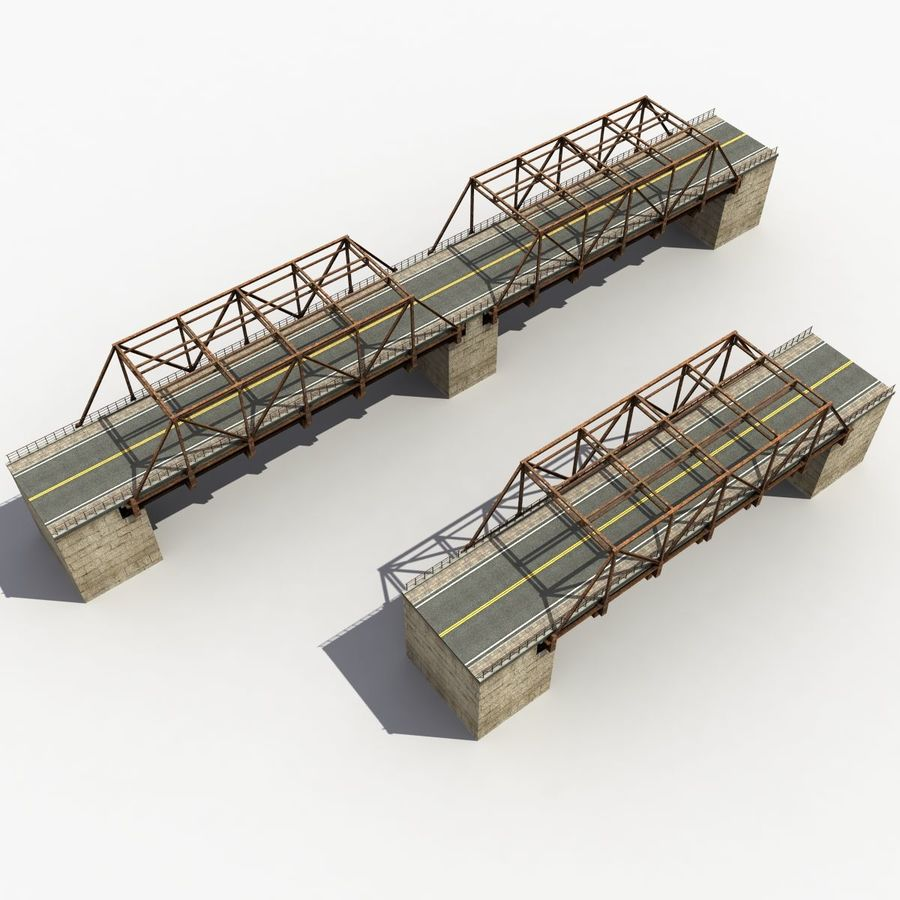 Bridge with metal royalty-free 3d model - Preview no. 12