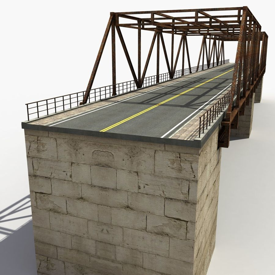 Bridge with metal royalty-free 3d model - Preview no. 3