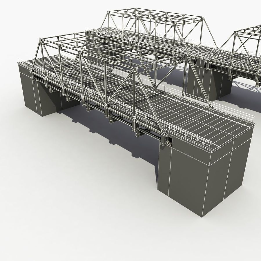 Bridge with metal royalty-free 3d model - Preview no. 14