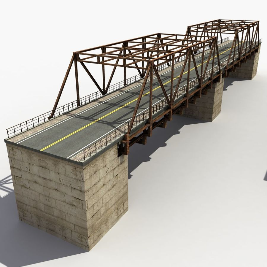 Bridge with metal royalty-free 3d model - Preview no. 2