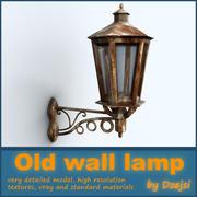 Vecchia lampada da parete 3d model