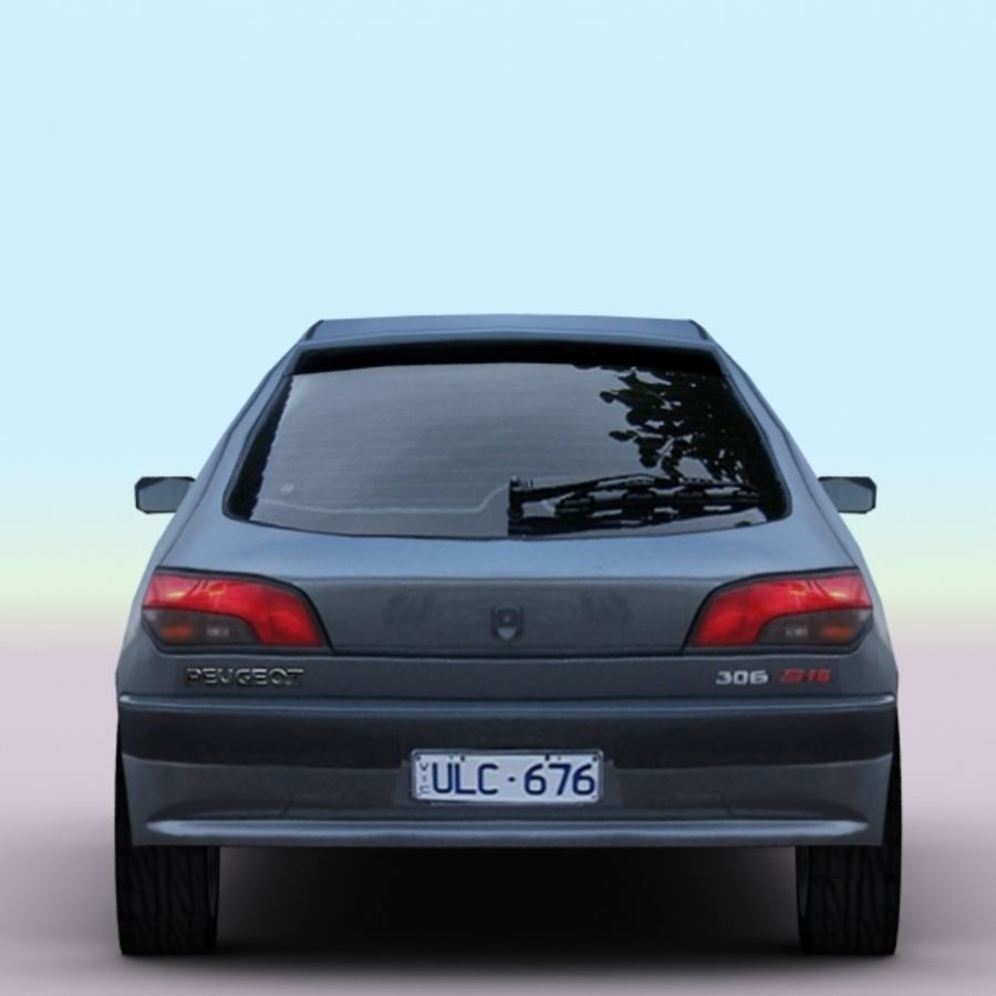 2002 Peugeot 306 royalty-free 3d model - Preview no. 7
